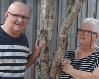 Mick Carmody lives with dementia and his carer wife Sue