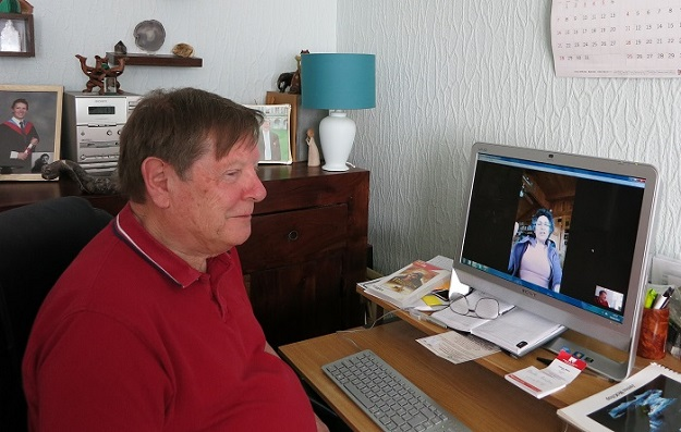James McKillop on Google Hangouts with Brenda