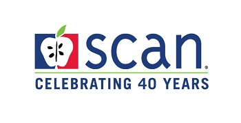 SCAN logo 40 years