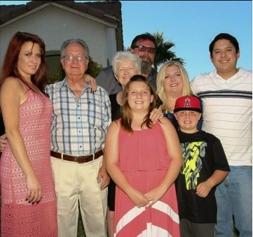 Nancy Nelson with her family for Voices with Dementia