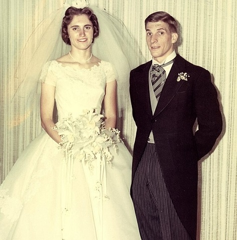 Terry Doherty's parents 1962 wedding picture