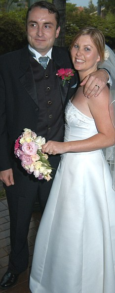 Rebecca and Scott Doig on their wedding day. Rebecca was diagnosed with Alzheimers.