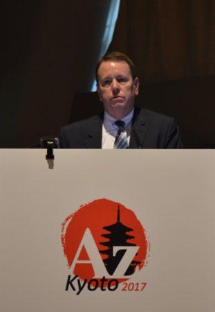 John Sandblom Speaking in Kyoto Japan