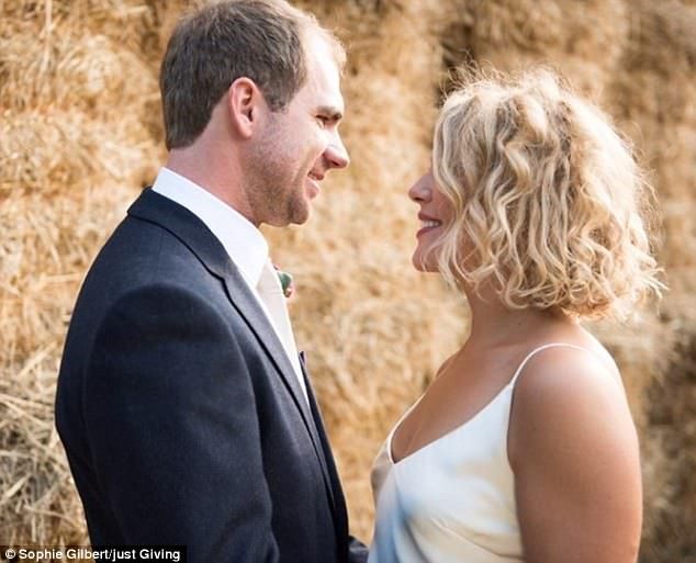 Becky Barletta and her husband Luca on their wedding day