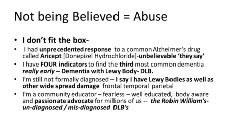 Val Schache presentation - Not Being Believed - Abuse Slide