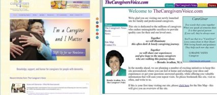 The Caregivers Voice Homepages in 2017 Dec 29 and 2002 Nov 25